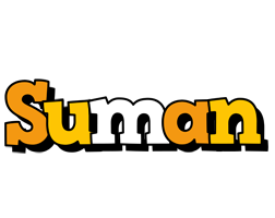 Suman cartoon logo