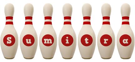 Sumitra bowling-pin logo
