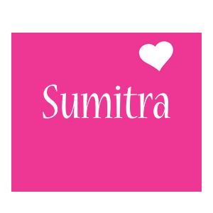 Sumitra love-heart logo