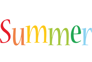 Summer birthday logo