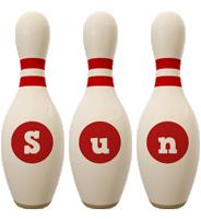 Sun bowling-pin logo