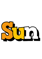 Sun cartoon logo