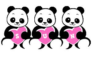 Sun love-panda logo
