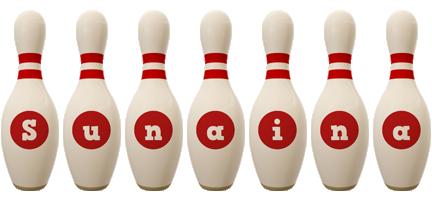 Sunaina bowling-pin logo