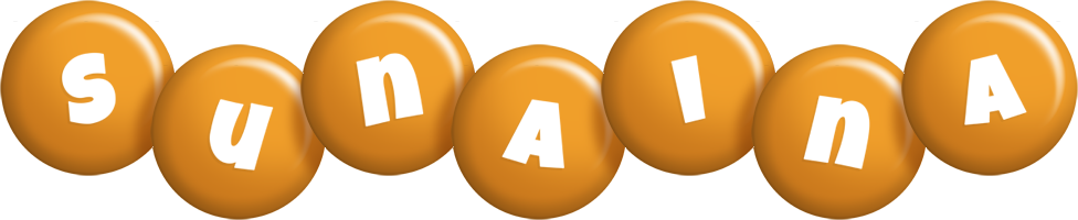 Sunaina candy-orange logo