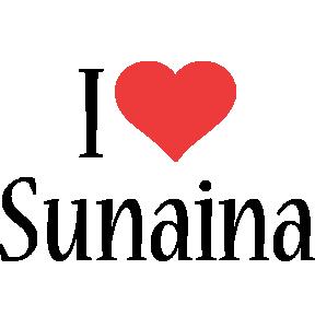 Sunaina i-love logo