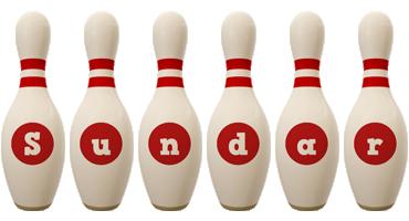 Sundar bowling-pin logo