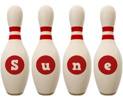 Sune bowling-pin logo