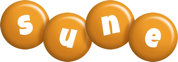 Sune candy-orange logo