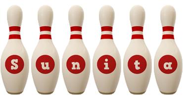 Sunita bowling-pin logo
