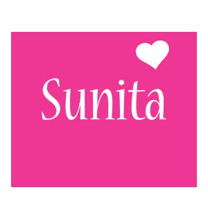 Sunita love-heart logo