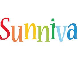 Sunniva birthday logo