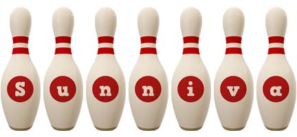 Sunniva bowling-pin logo