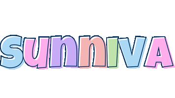 Sunniva pastel logo