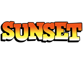 SUNSET logo effect. Colorful text effects in various flavors. Customize your own text here: https://www.textGiraffe.com/logos/sunset/