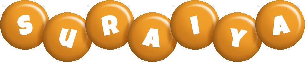 Suraiya candy-orange logo