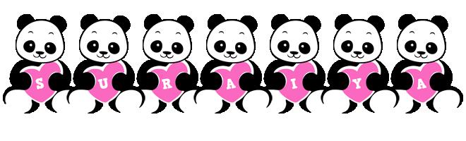 Suraiya love-panda logo