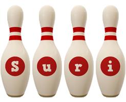 Suri bowling-pin logo