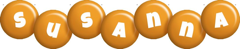 Susanna candy-orange logo