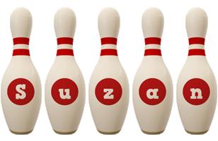 Suzan bowling-pin logo