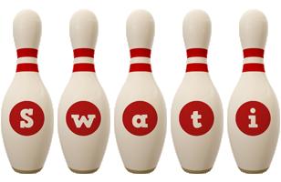 Swati bowling-pin logo