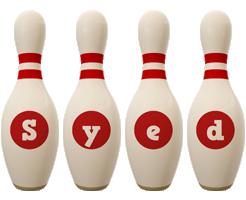 Syed bowling-pin logo