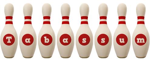 Tabassum bowling-pin logo