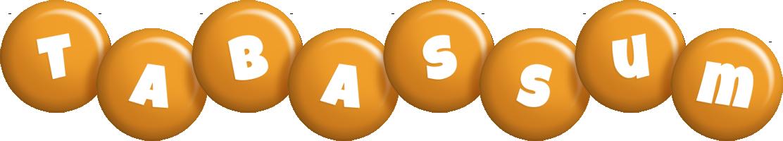 Tabassum candy-orange logo