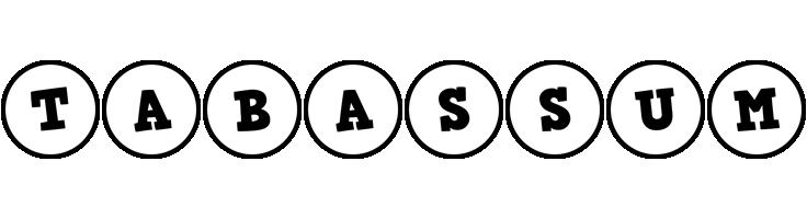 Tabassum handy logo