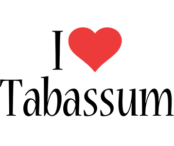 Tabassum i-love logo