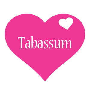 Tabassum love-heart logo