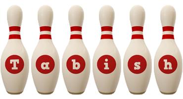 Tabish bowling-pin logo