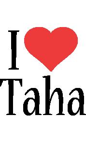 i love you taha name