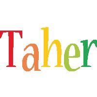 Taher birthday logo
