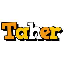 Taher cartoon logo