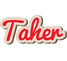 Taher chocolate logo