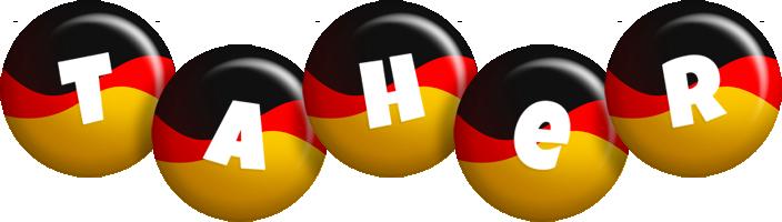Taher german logo