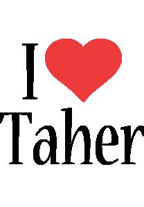 Taher i-love logo