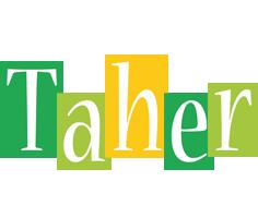 Taher lemonade logo