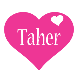 Taher love-heart logo