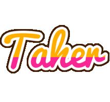 Taher smoothie logo