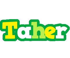 Taher soccer logo