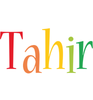 Tahir birthday logo