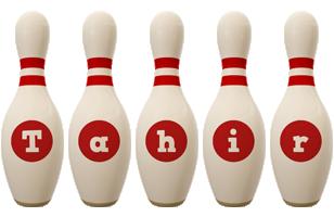 Tahir bowling-pin logo