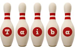 Taiba bowling-pin logo