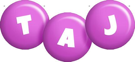 Taj candy-purple logo