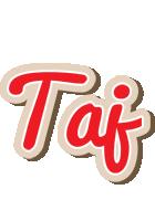 Taj chocolate logo