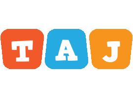 Taj comics logo