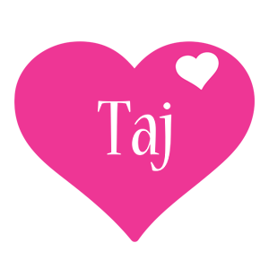 Taj love-heart logo