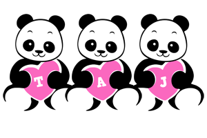Taj love-panda logo